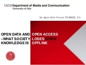 Open access and open data