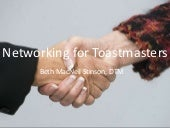 Networking for Toastmasters
