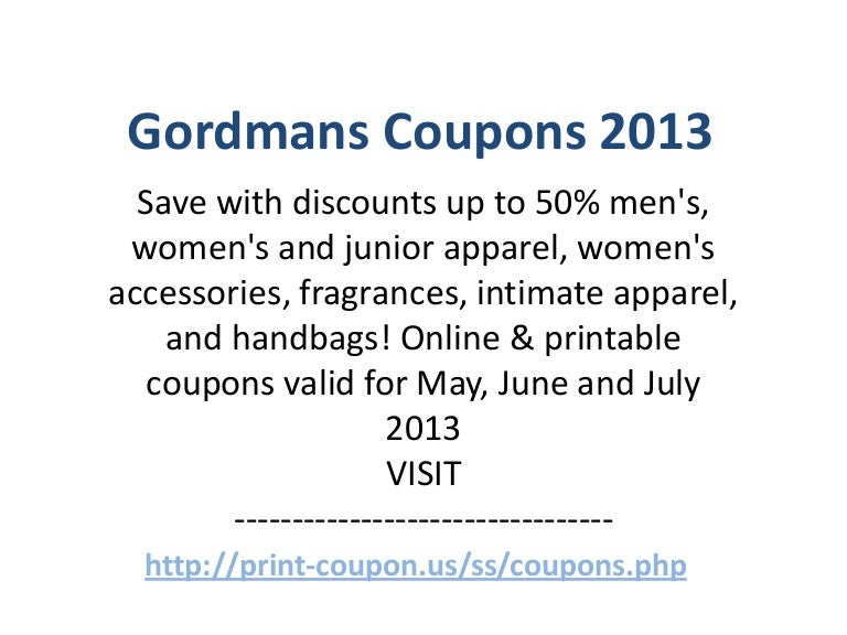 image regarding Gordmans Printable Coupon called Gordmans Discount coupons Code May perhaps 2013 June 2013 July 2013