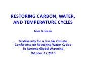 """Tom Goreau, """"The Tijuca Story: Reforestation and the Biotic Pump"""""""