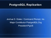 Replication using PostgreSQL Replicator
