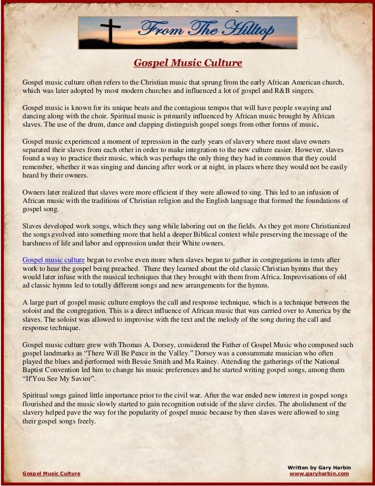 Gospel Music Culture