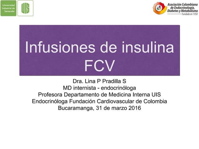 Protocolo de manejo infusión de insulina