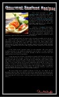 Gourmet seafood recipes