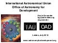 International Astronomical Union - Office of Astronomy for Development