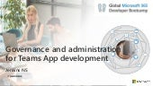 Governance and administration for teams app development