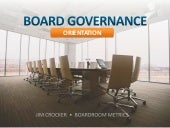 Corporate Governance Orientation Presentation PPT