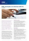 IFRS convergence in India from 2015-16