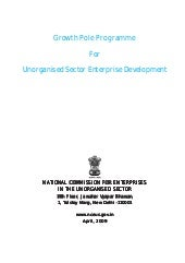 Growth Pole Programme for Unorganised Sector Enterprise Development