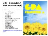Gpa Computer A - Magazine Design Final Project Sample