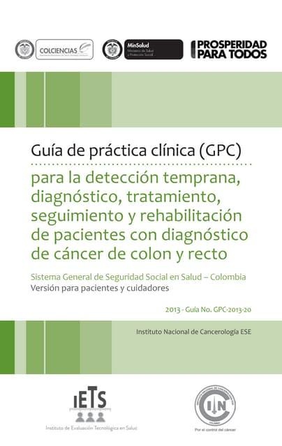 Cancer de colon y recto gpc Triptico Cancer de Colon | Cáncer colonrectal | Cáncer