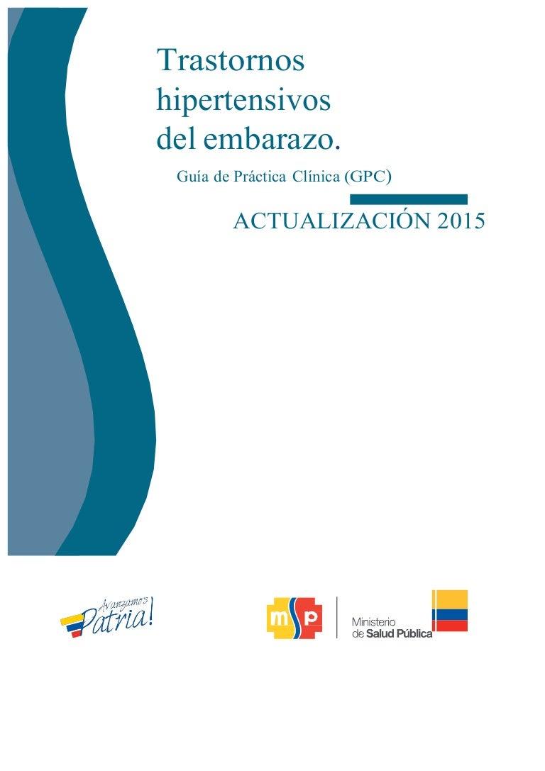 Guías de práctica perinatal hipertensión europea