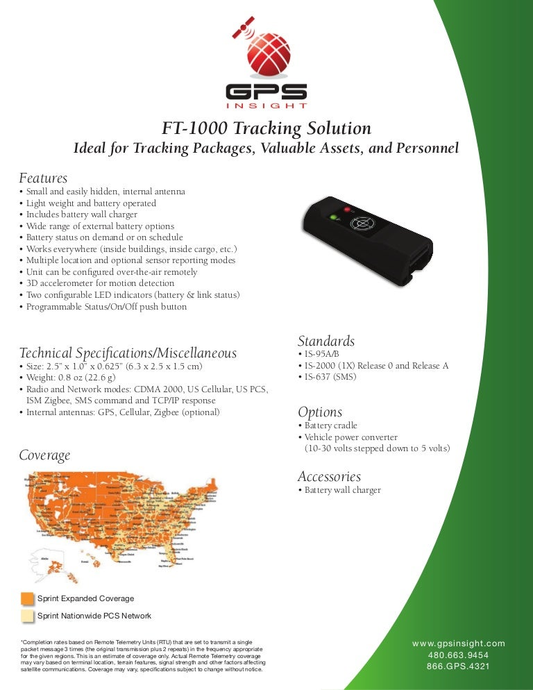 GPS Fleet Tracking Device FT-1000