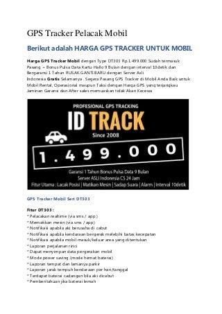 GPS Tracker Mobil Untuk Warga Bandung