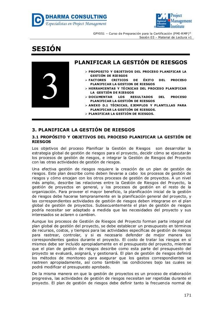 GPY051 - Planificar la Gestión de Riesgo