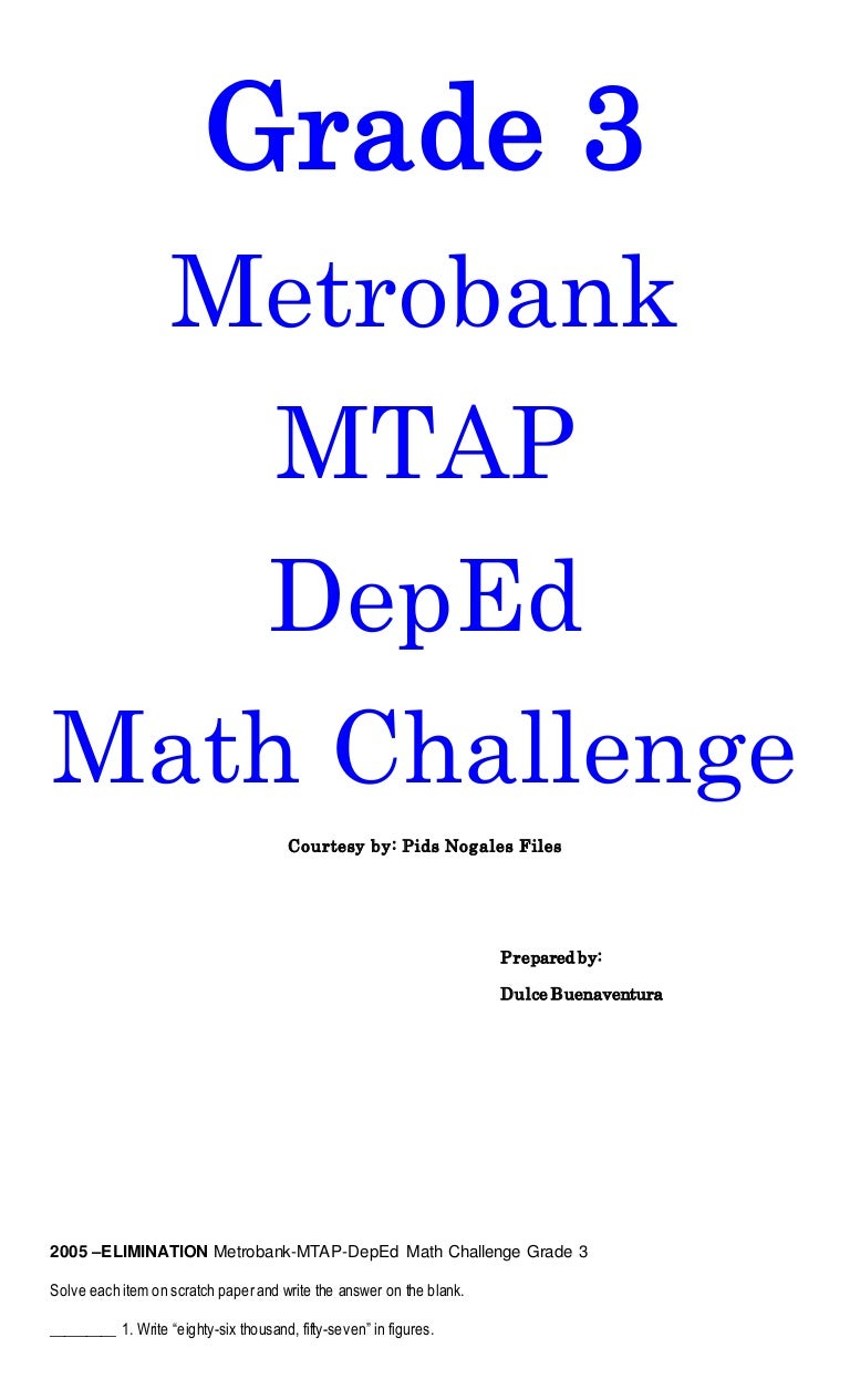 mtap problem solving for grade 3