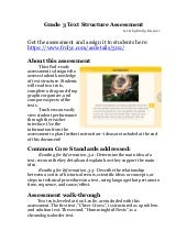 Grade 3 text structure assessment teaching guide