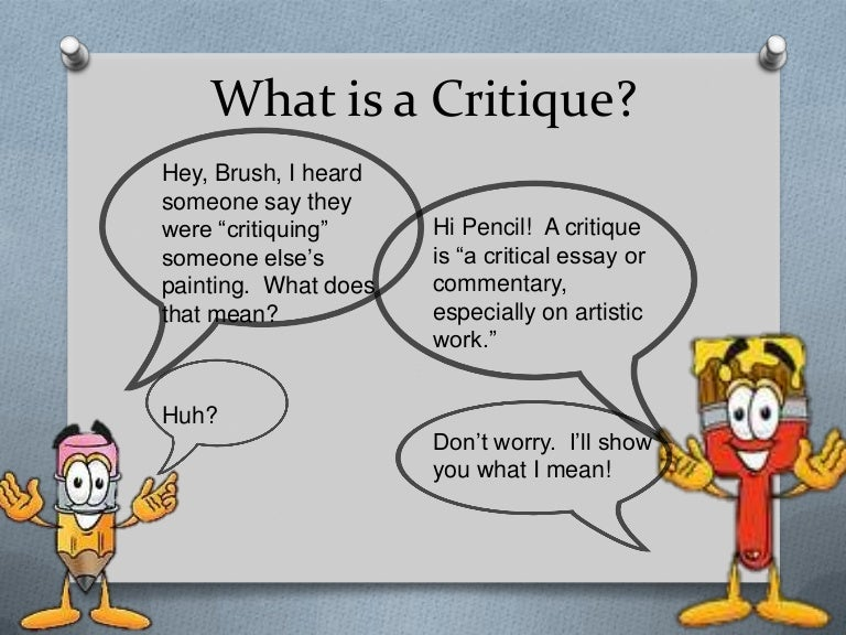 Intro to Critiquing for Kids