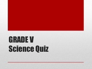 Grade 5 science quiz bee