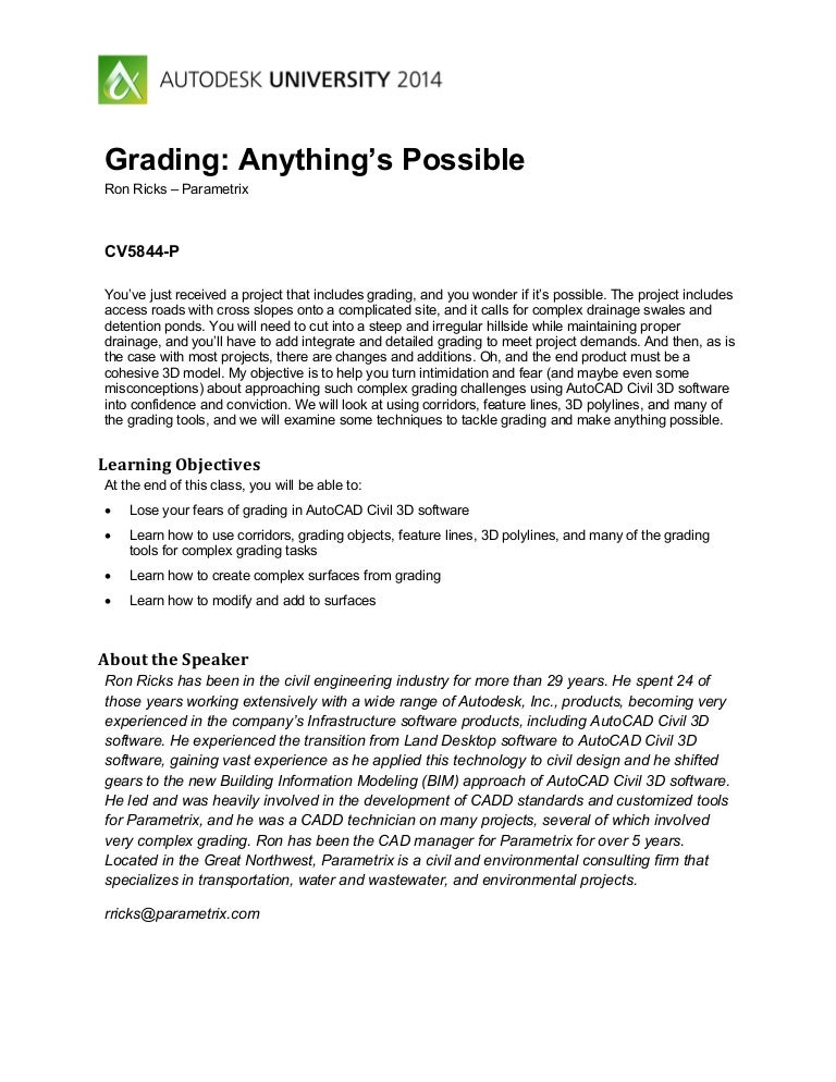 Grading anything's possible-C3D