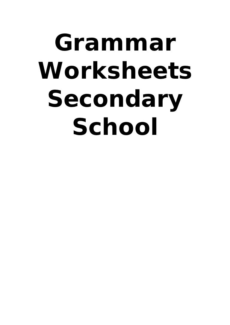 Worksheets Sat Grammar Worksheets grammar worksheets secondary