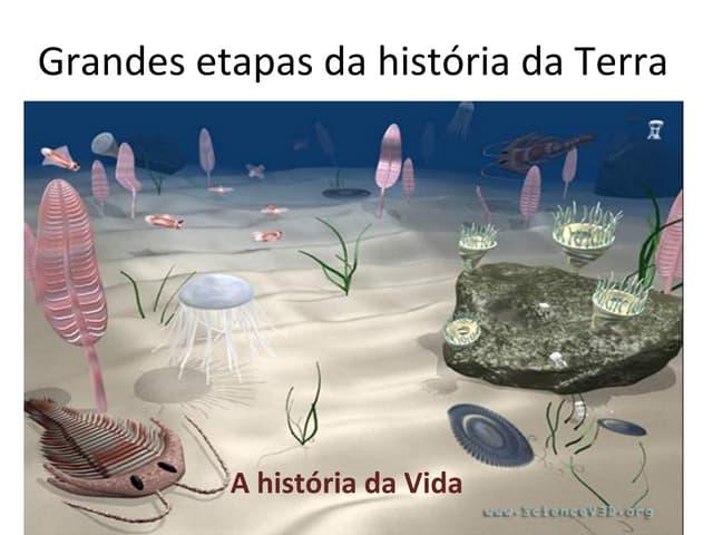 Grandes etapas da história da terra