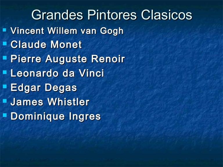 grandes pintores clasicos - Nombres De Pintores Famosos