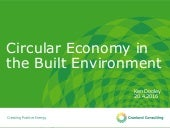Ken Dooley: Circular Economy in the Built Environment