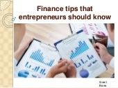 Grant Barra - Finance tips that entrepreneurs should know