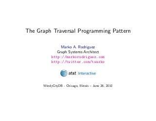 The Graph Traversal Programming Pattern