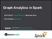 Graph Analytics in Spark