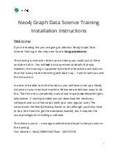 Graph Data Science training - Installation Instructions