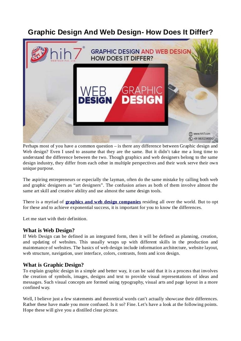 Graphic Design And Web Design How Does It Differ
