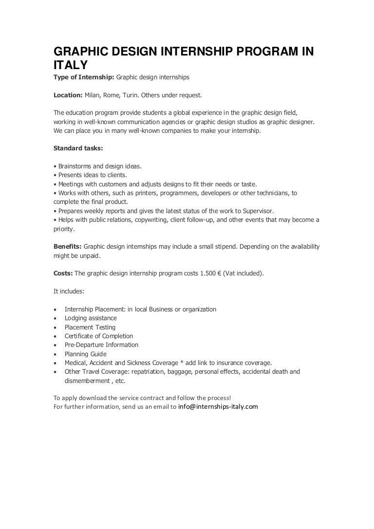 Graphic design internship program in italy 1betcityfo Images