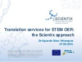 Translation services for STEM OER: the Scientix approach