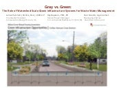 Gray vs. Green: The Role of Watershed-scale Green Infrastructure Systems for Waste Water Treatment