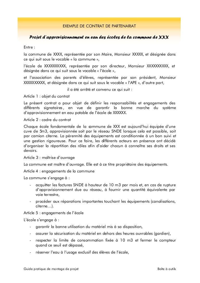 lettre de partenariat exemple