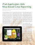 iPad Application Aids Map-Based Crop Reporting