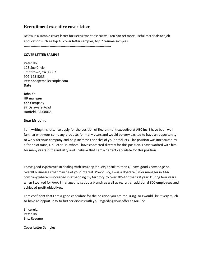 Great Cover Letter Examples