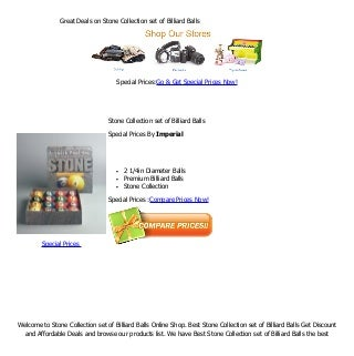 Great deals on stone collection set of billiard balls