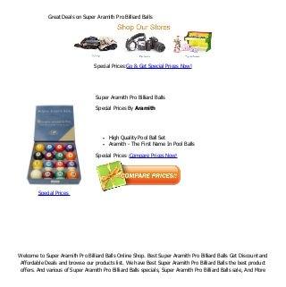 Great deals on super aramith pro billiard balls
