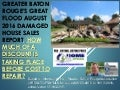 Greater Baton Rouge Great Flood August 2016 Currently Damaged House Sales Study