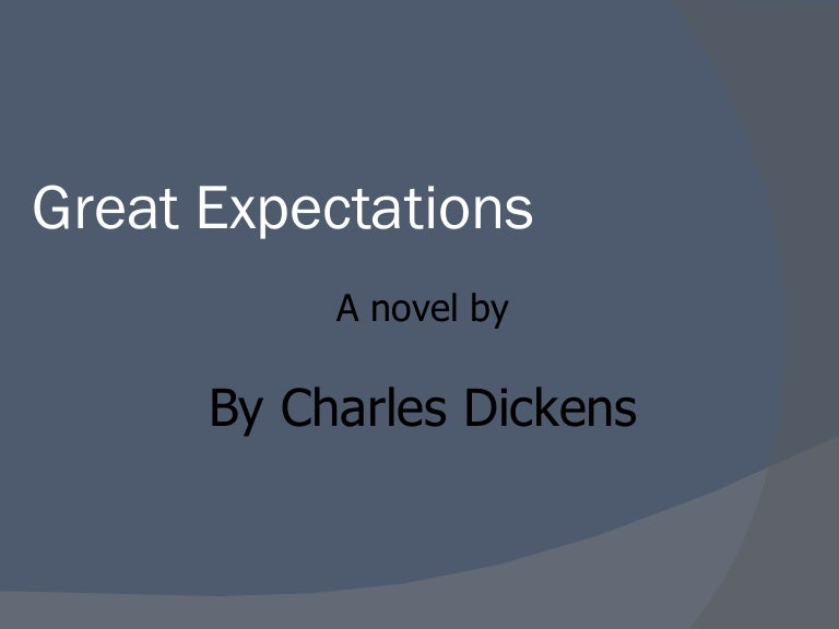 Great expectations finished powerpoint toneelgroepblik Gallery
