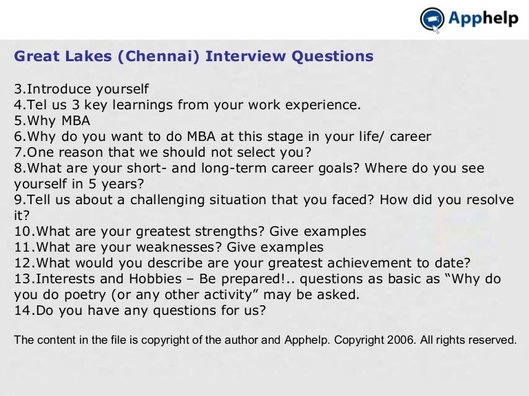 great lakes chennai interview questions tips apphelp