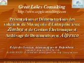 Great Lakes Consulting - Zimbra and Alfresco