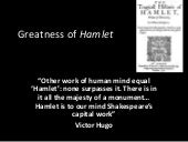 Reasons for the Greatness of Hamlet
