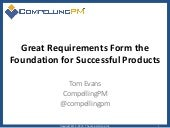 Great Requirements Form the Foundation for Successful Products