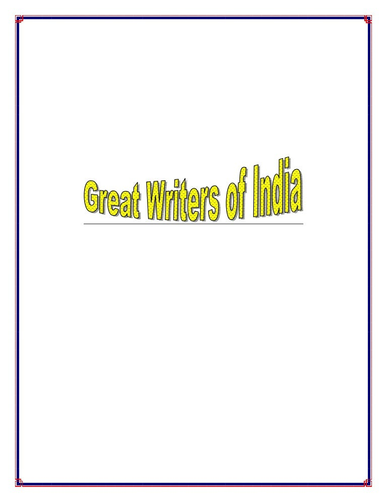 Great Writers of India