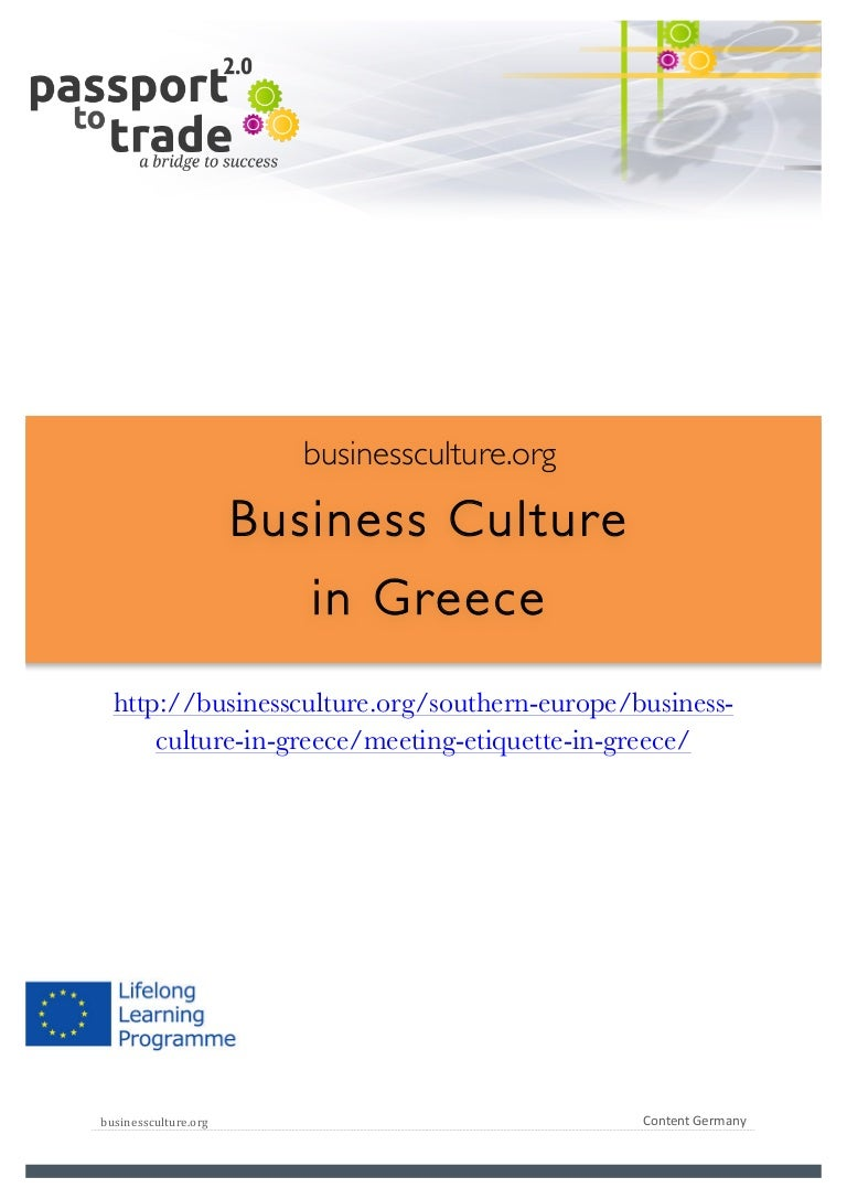 Greeek Business Culture Guide Learn About Greece