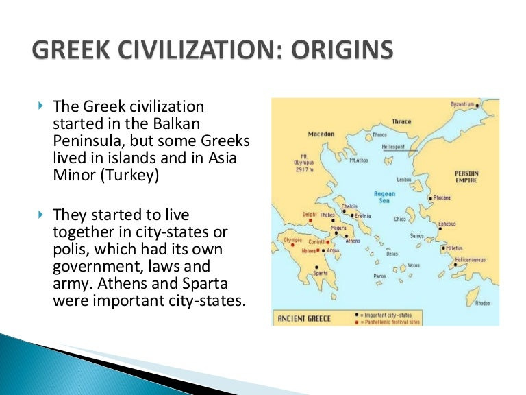 an introduction to the culture and origins of the earliest greek civilization Greece has perhaps the longest and richest archaeological record in europe, and this book reviews what is known of greece from the earliest inhabitants in the stone age to the end of the bronze age and the collapse of the minoan and mycenaean civilizations.